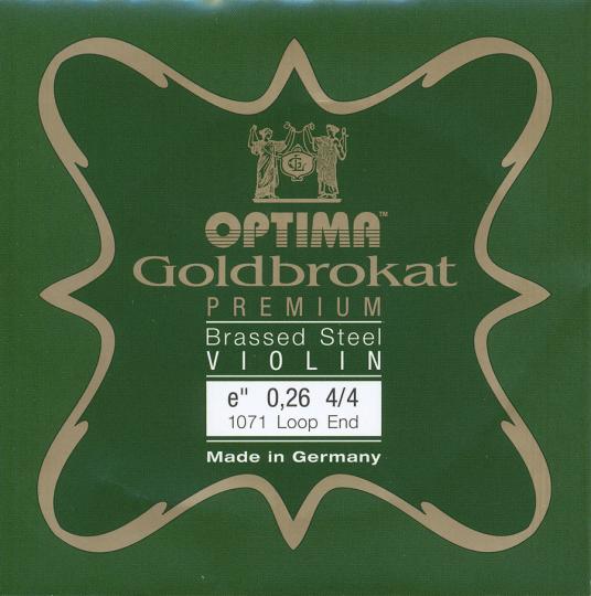 Optima Goldbrokat Premium Brassed Violin E-Snaar lusje, sterkte 26