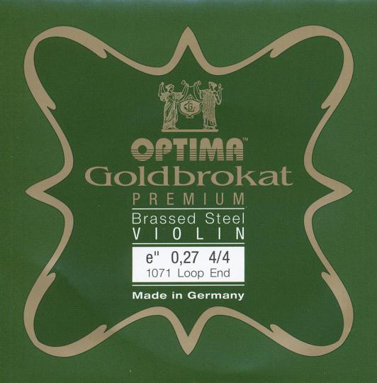 Optima Goldbrokat Premium Brassed Violin E-Snaar lusje, sterkte 27