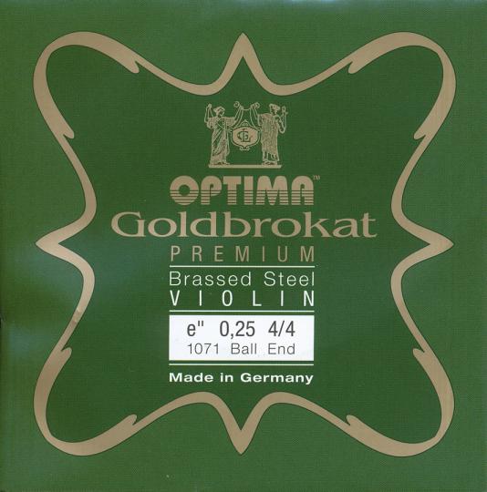 Optima Goldbrokat Premium Brassed Violin E-Snaar kogel