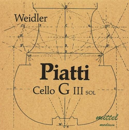 PIATTI C-snaar voor violoncello medium