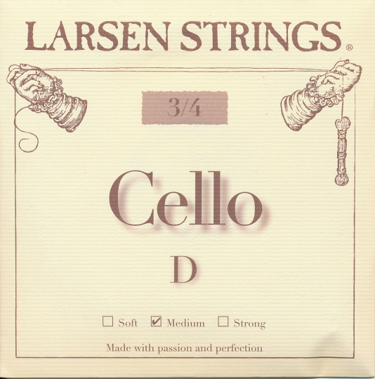LARSEN Cello 3/4 D-snaar, medium