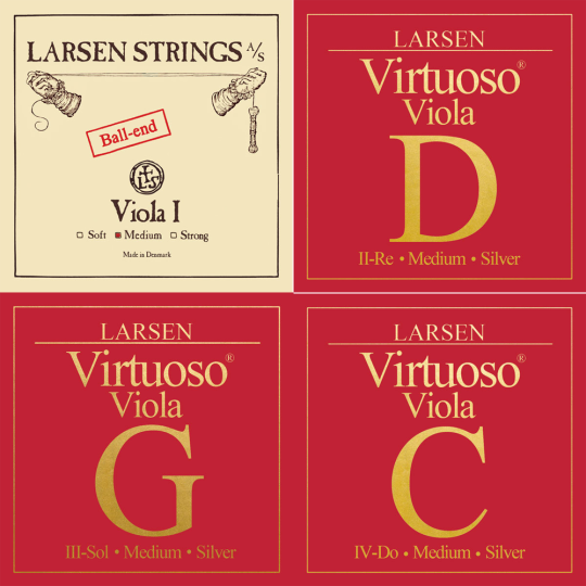 LARSEN VIRTUOSO VIOLA SET, A-SNAAR KOGEL, MEDIUM