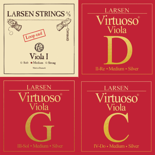 LARSEN VIRTUOSO VIOLA SET, A-SNAAR LUSJE, MEDIUM