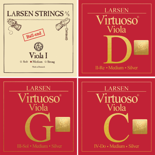 LARSEN Virtuoso Soloist Viola Set, A-Snaar Kogel, medium