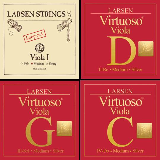 LARSEN Virtuoso Soloist Viola Set, A-Snaar lusje, medium