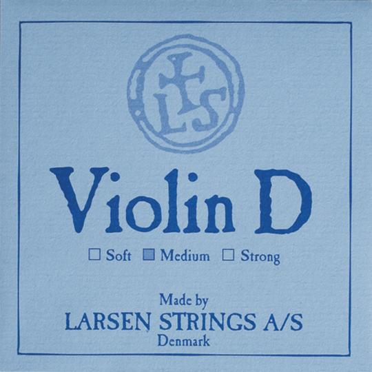 LARSEN Violin D-snaar, zilver