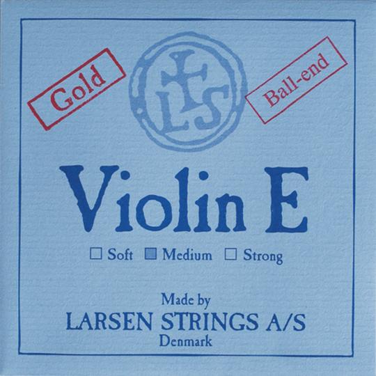 LARSEN Violin E-snaar Gold met kogeltje, strong
