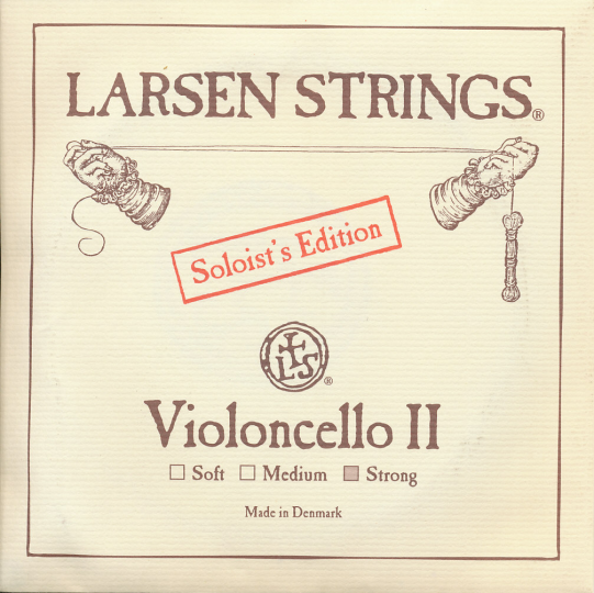 LARSEN Cello Soloist D-snaar, strong