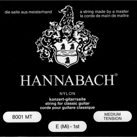 HANNABACH 800MT Set gitaarsnaren, medium tension
