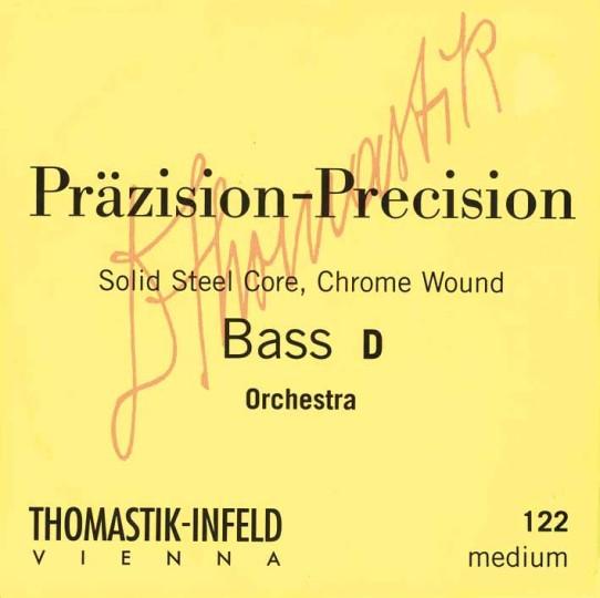 THOMASTIK  Präzision Set voor contrabas chroomstaal, Orkeststemming (E-A-D-G), medium