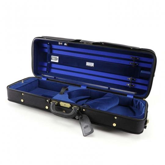 Winter 3024 Luxus altvioolkoffer - zwart / blauw