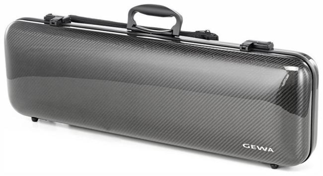 Gewa Idea 1.8 - vioolkoffer - kleur - koolstofvezel zwart / zwart