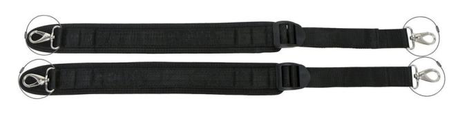 Neopren draagband - 30mm - VL/VA - 2st
