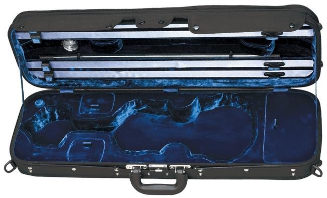 GEWA Maestro vioolkoffer zwart / blauw
