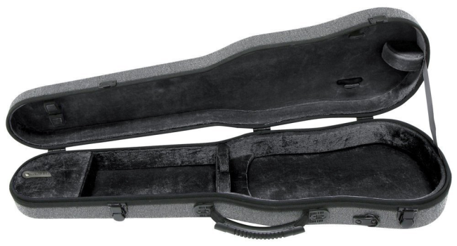 GEWA vioolvormkoffer  Bio I S, 4/4 grijs / zwart