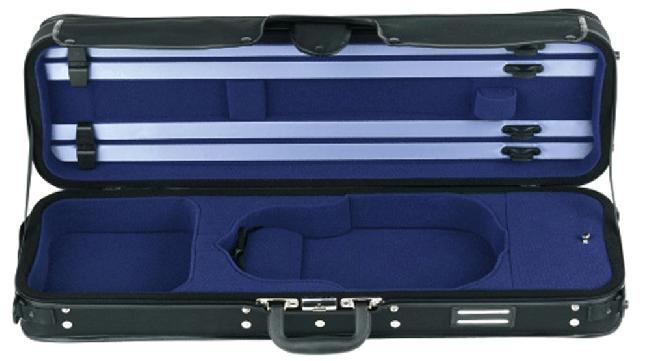 GEWA Strato Super Light Violin-Kofferetui, 4/4 zwart / blauw