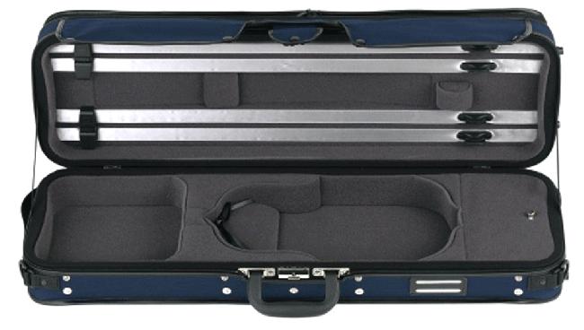 GEWA Strato Super Light Violin-Kofferetui, 4/4 blauw / antraciet
