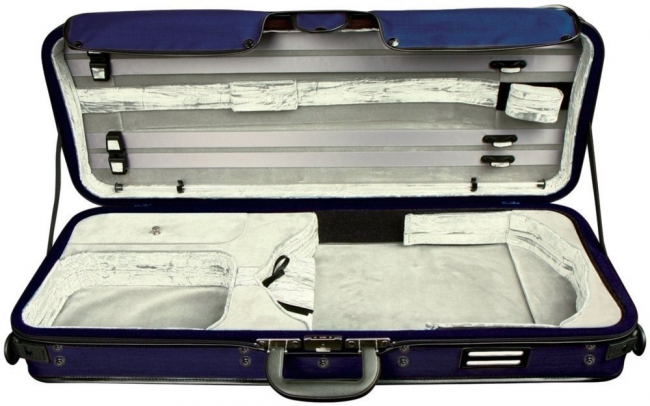 GEWA Strato de Luxe, altvioolkoffer, blauw/fluweelpuche antraciet