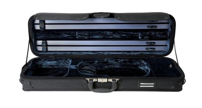 GEWA Strato de Luxe vioolkoffer, zwart/blauw
