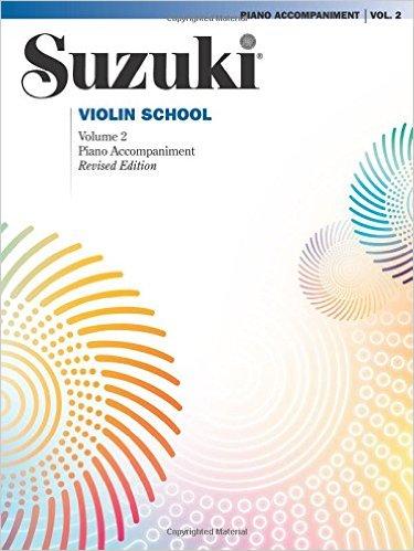 Suzuki methode viool, pianobegeleiding Boek 2