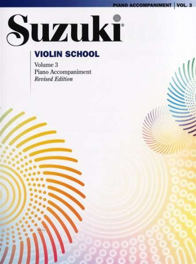 Suzuki methode viool, pianobegeleiding Boek 3