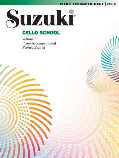 Suzuki methode Cello pianobegeleiding Boek 5
