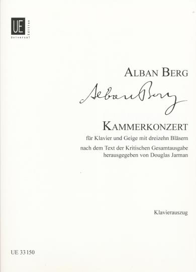 Alban Berg Kammerkonzert voor piano en viool