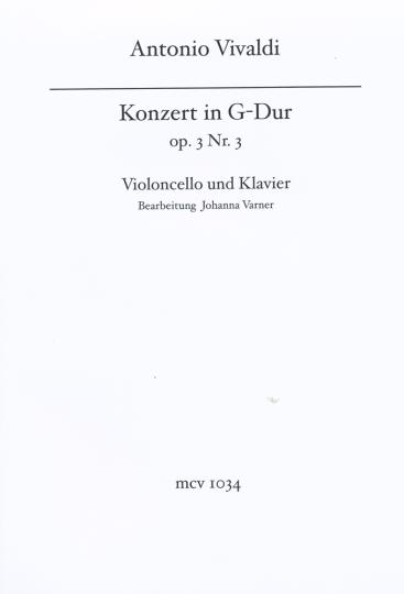 Vivaldi Konzert voor violoncello, G-dur