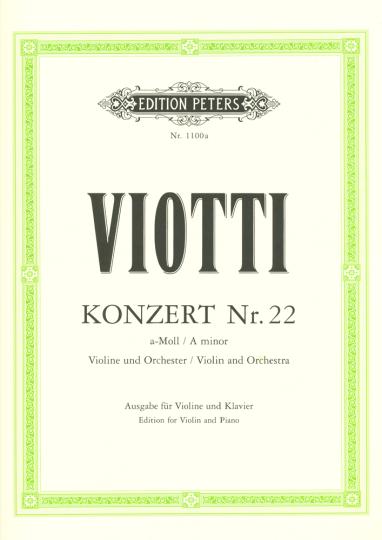 Viotti, Konzert Nr. 22 a-Moll