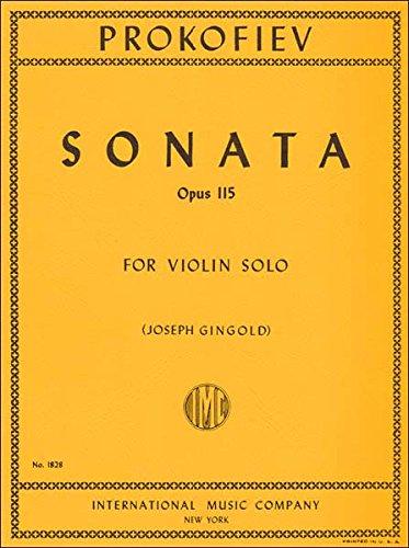 Prokofiev, Sonata Opus 115