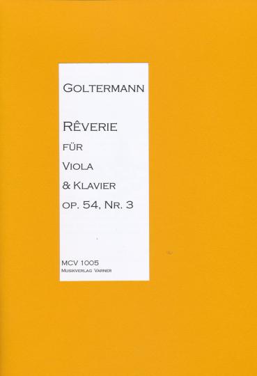 Georg Goltermann, 1824-1898 Réverie voor altviool en piano