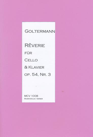 Georg Goltermann, 1824-1898, réverie voor cello