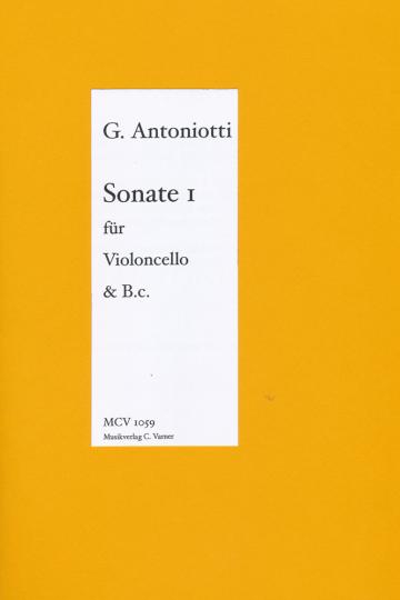 Giorgio Antoniotti, 1692-1776 ,1.Sonate voor violoncello