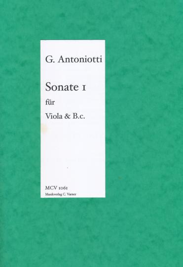 Giorgio Antoniotti, 1.Sonate voor Altviool und Klavier