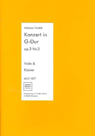 Antonio Vivaldi, concert op.3 in G-Dur
