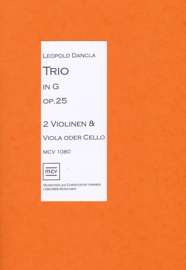 Bladmuziek- Leopold Dancla, Trio in G op. 25