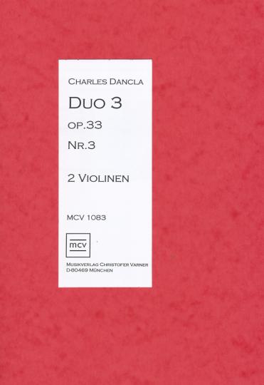 Bladmuziek- Charles Dancla, Duos op.33 Nr. 3