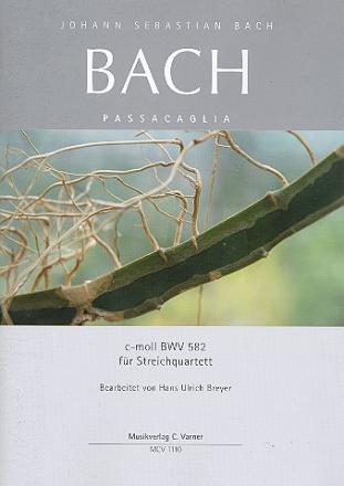 Johann Seb. Bach, Passacaglia c-moll BWV 582 voor strijkkwartet