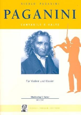 Bladmuziek- Nicolo Paganini, Cantabile e Valtz