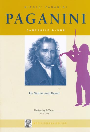 Noten Nicolo Paganini, Cantabile D-dur voor viool en piano