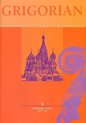 Levon & David Grigorian, etudes, verzamelbundel voor violoncello, deel 3