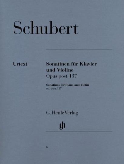 F. Schubert, Sonatinen voor piano en viool, op. post. 137