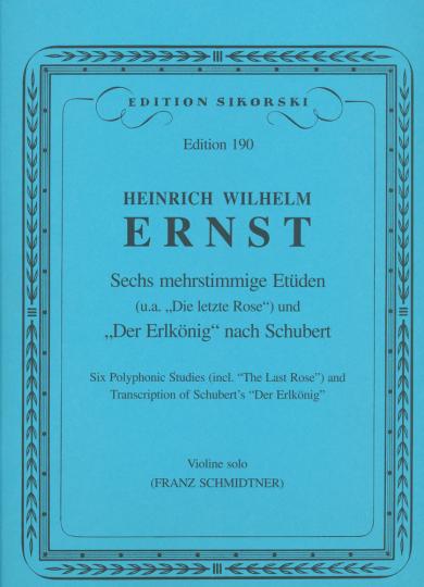 Ernst, zes meerstemmige etudes