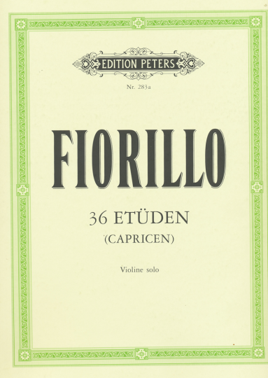 Fiorillo, 36 etudes, Viool solo