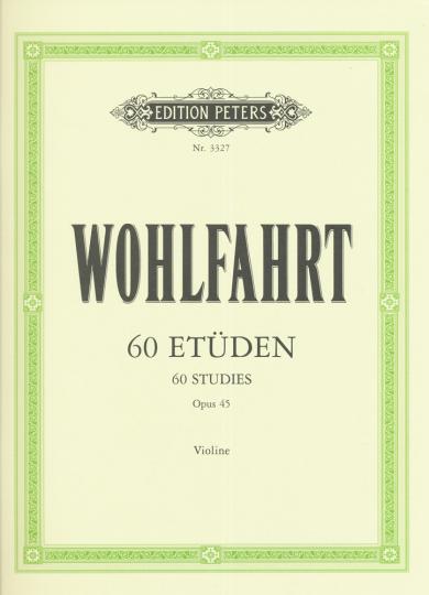 Wohlfahrt, 60 etudes, Opus 45