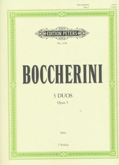 Boccherini, 3 Duos, Opus 5, voor 2 Violen