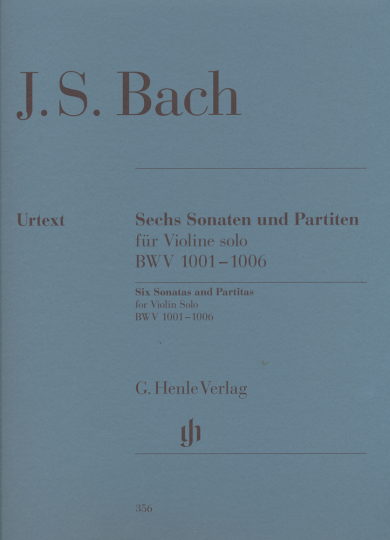 Bach, zes sonates en Partita's voor viool solo, BWV 1001-1006
