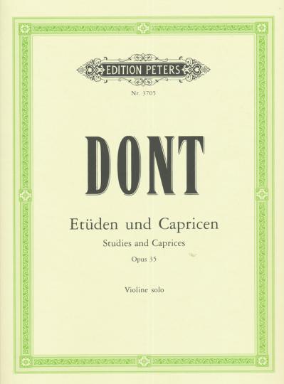 Dont, 24 etudes en Caprices op. 35 - voor Viool solo
