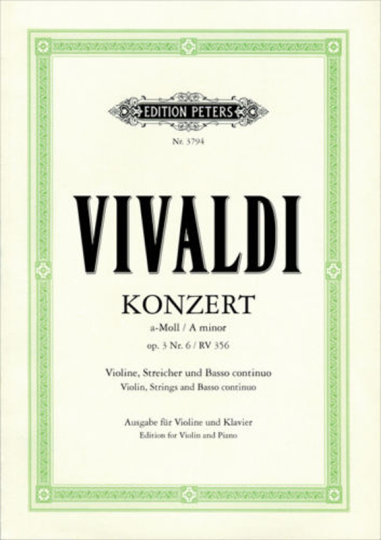 Vivaldi, Konzert a-Moll, op. 3 Nr. 6,  RV 356