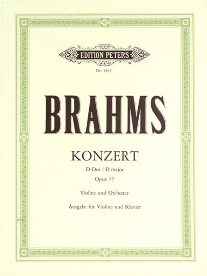 Johannes Brahms concert D-Dur op. 77 voor Viool en Orkest